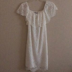 Material Girl white dress, size large